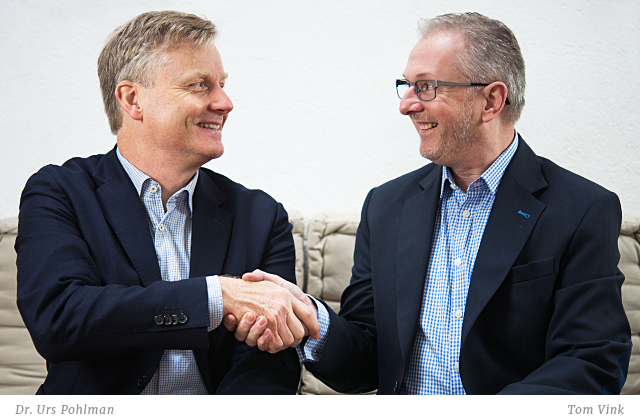 Dr. Urs Pohlman und Tom Vink